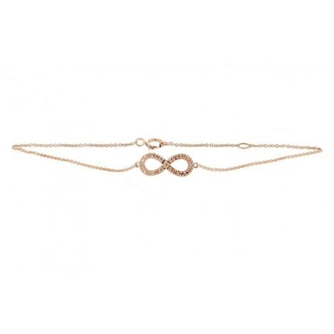 "Bracelet chaîne ""Infinity"" diamants en or rose - Fifille"