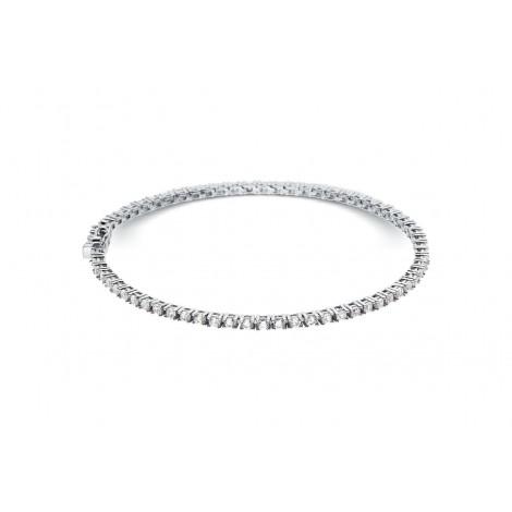 Bracelet riviere de diamants 4 griffes en or blanc - Dacha