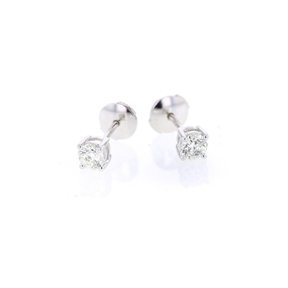 boucles d 39 oreilles clous diamants mont s quatre griffes en or blanc ennia monte carlo star. Black Bedroom Furniture Sets. Home Design Ideas