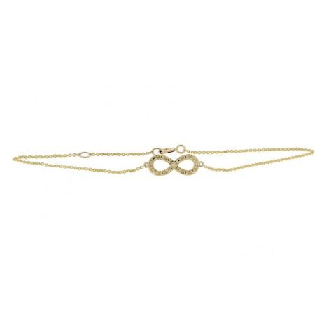 "Bracelet chaîne ""Infinity"" diamants en or jaune - Fifille"